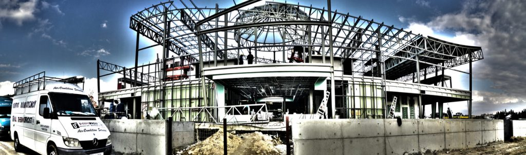 Paranorama Building Construction HDR Effect